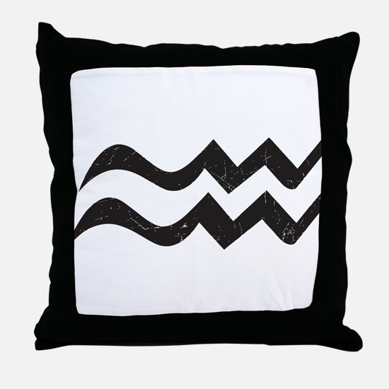 Aquarius Symbol Throw Pillow
