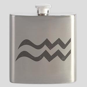 Aquarius Symbol Flask