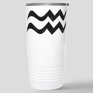 Aquarius Symbol Stainless Steel Travel Mug