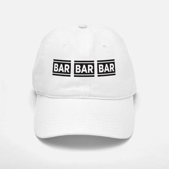 BAR BAR BAR Baseball Baseball Cap