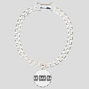 BAR BAR BAR Charm Bracelet, One Charm