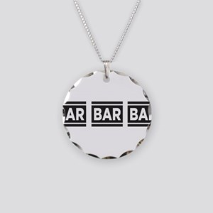 BAR BAR BAR Necklace Circle Charm
