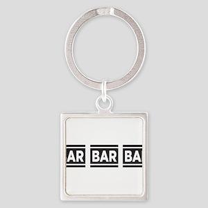 BAR BAR BAR Square Keychain