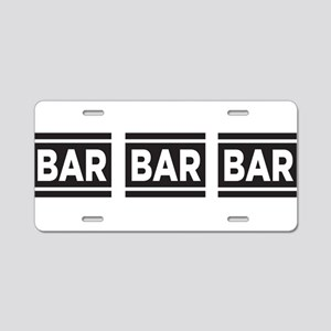 BAR BAR BAR Aluminum License Plate
