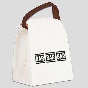 BAR BAR BAR Canvas Lunch Bag