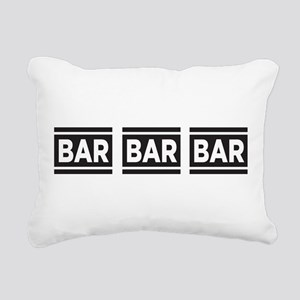 BAR BAR BAR Rectangular Canvas Pillow