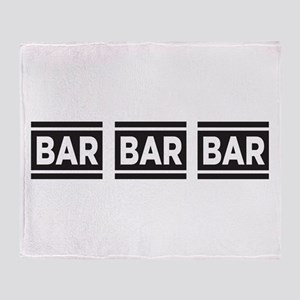BAR BAR BAR Throw Blanket