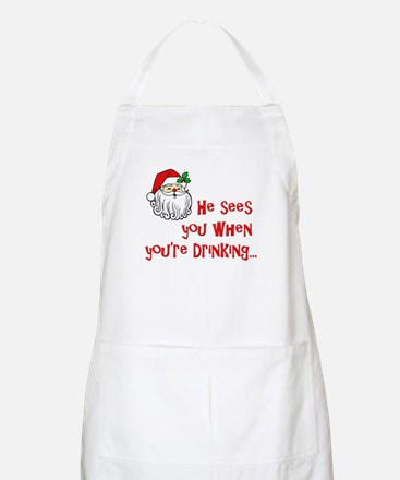 He Sees You Apron