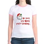 He Sees You Jr. Ringer T-Shirt