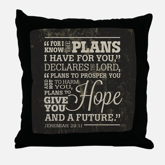 Hope and a Future Throw Pillow