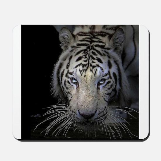 White Tiger Stalking Mousepad