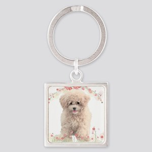 flowers Square Keychain