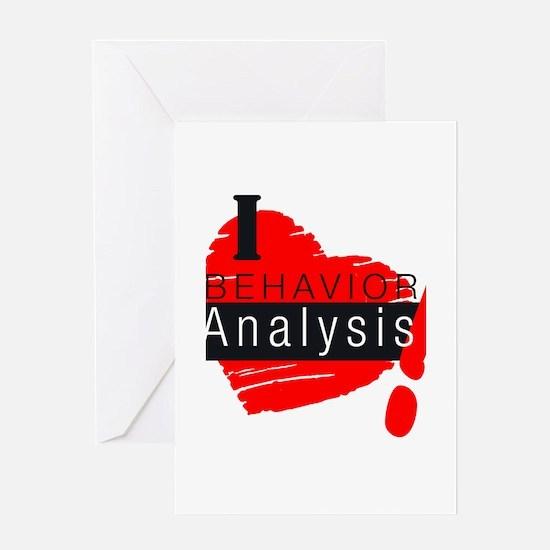 I Love behavior analysis Greeting Cards