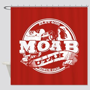 Moab Old Circle Shower Curtain