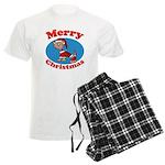Merry Christmas Pup Men's Light Pajamas