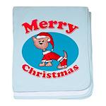Merry Christmas Pup baby blanket