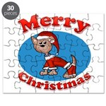 Merry Christmas Pup Puzzle