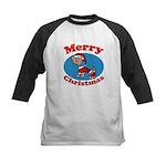 Merry Christmas Pup Kids Baseball Jersey