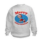 Merry Christmas Pup Kids Sweatshirt
