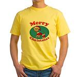 Merry Christmas Pup Yellow T-Shirt