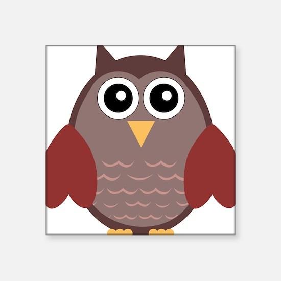 "Owl Square Sticker 3"" x 3"""