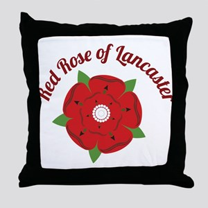 Rose Of Lancaster Throw Pillow
