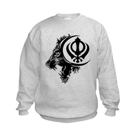 Singh Sikh Symbol 1 Kids Sweatshirt