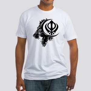 Singh Sikh Symbol 1 Fitted T-Shirt