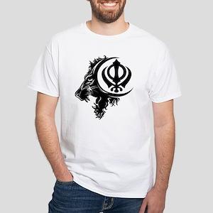 Singh Sikh Symbol 1 White T-Shirt