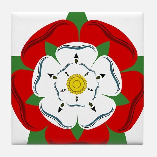 Heraldic Rose Tile Coaster
