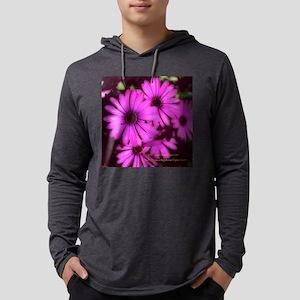 Violet Flowers 5.25x5.25 Tile 1. Mens Hooded Shirt