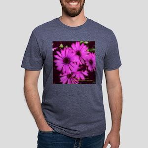 Violet Flowers 5.25x5.25 Ti Mens Tri-blend T-Shirt