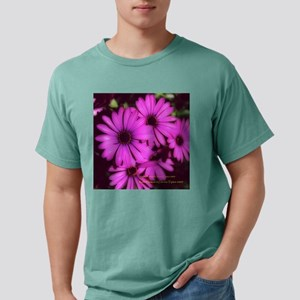 Violet Flowers 5.25x5.25 Mens Comfort Colors Shirt