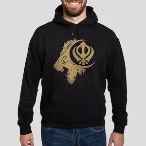 Singh Sikh Symbol 1 Hoodie (dark)