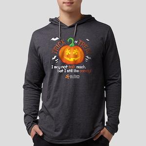 halloween1-talk-onblk Mens Hooded Shirt