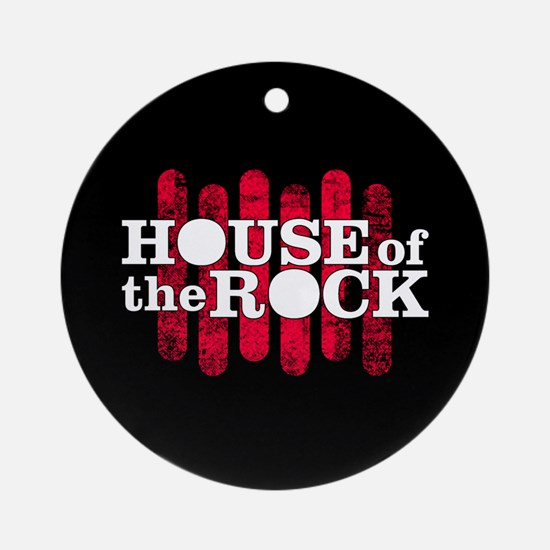 """""""House of the Rock"""" Logo Ornament (Round"""