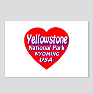 Yellowstone National Park Heart Postcards (Package