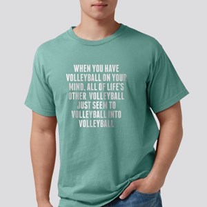 Volleyball On Your Mind Mens Comfort Colors Shirt