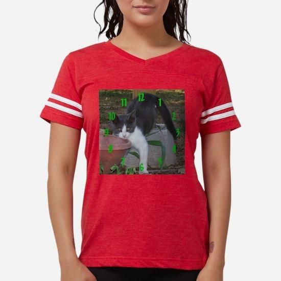 Alley Kitten Clock Womens Football Shirt