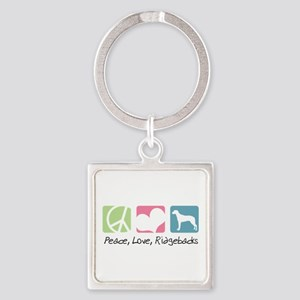 peacedogs Square Keychain
