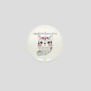 Kitten Cat Rainbows and Unicorns Mini Button