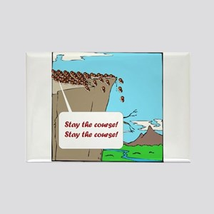 Stay the Lemmings Course Rectangle Magnet