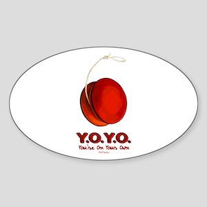 Red Y.O.Y.O. Oval Sticker