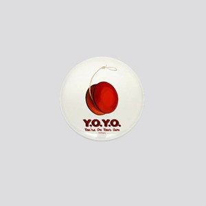 Red Y.O.Y.O. Mini Button