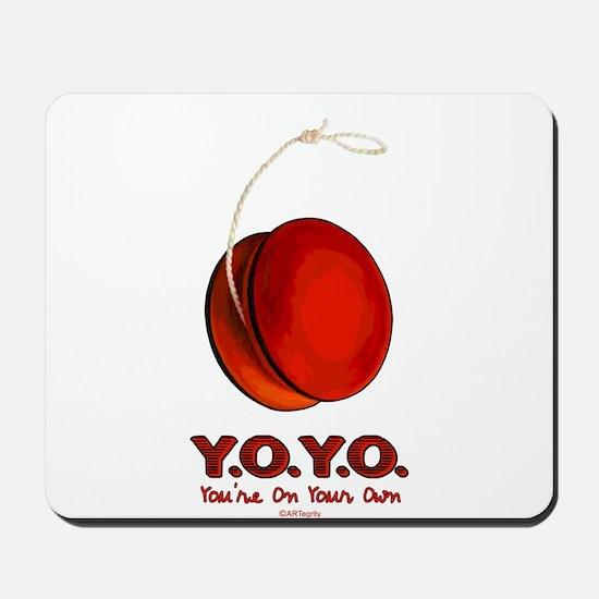 Red Y.O.Y.O. Mousepad