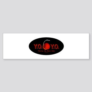 Red Y.O.Y.O. Bumper Sticker