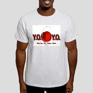 Red Y.O.Y.O. Ash Grey T-Shirt