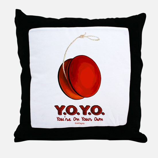 Red Y.O.Y.O. Throw Pillow