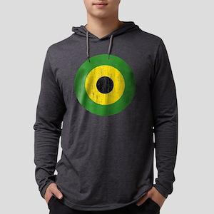 Jamaica Roundel Aged Mens Hooded Shirt