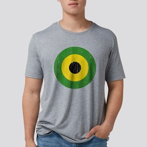 Jamaica Roundel Aged Mens Tri-blend T-Shirt